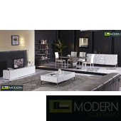 Calix White Lacquer Coffee Table