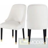 Omni Cream Velvet Dining Chair  set of 2 InStore DMV Deals