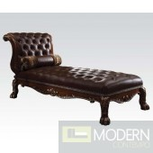 Andromeda Cherry Oak Finish Chaise Lounge