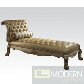 Andromeda Gold Patina & Bone Chaise