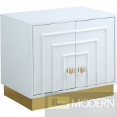 White Cosmo Side Table Nightstand
