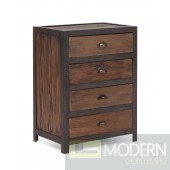 Fort Mason 4 Drawer Cabinet Distressed Natural