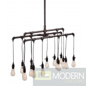 Maldonite Ceiling Lamp Rust Black
