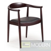 Greenwich Chair Dark Walnut & Black Cushion