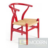 Baby Grant Chair Red & Natural Wicker