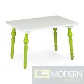 Baby Alta Table Green & White