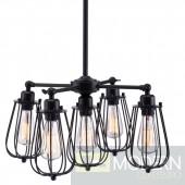 ZUO Porirua Ceiling Lamp in Distressed Black - 98424 - LOCAL DMV DEALS
