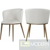 Skylar Faux Leather Dining Chair set of 2 . Instore Item DMV deals