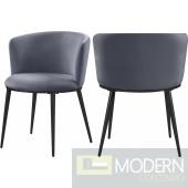 Skylar Velvet Dining Chair  set of 2. Instore item. DMV deals