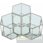 Hexa Modular 3 Piece Coffee Table CHROME