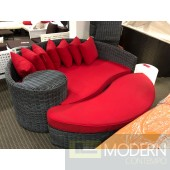 SUMMON OUTDOOR PATIO SUNBRELLA® DAYBED IN RED