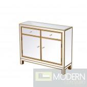 "38"" Bellini Nightstand Antique Gold"