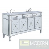 "Essex 60"" Wide Double Vanity Set with Cabinet, Stone Top and Undermount Sink"