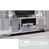 Ottavia TV Stand with Faux Crystals