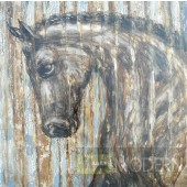 Modrest ADC7920 Horse Oil Painting on Canvas and Metal