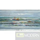 Modrest ADC7925 Boats Oil Painting On Canvas and Metal