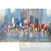 Modrest ADC8223 City And Ocean Oil Painting On Canvas and Metal