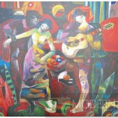 Modrest ADC8306 Dancing Oil Painting On Canvas