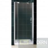 """Allure Frameless Pivot Shower Door and SlimLine 36"""" by 36"""" Single Threshold Shower Base"""