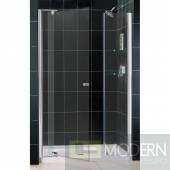 """Allure Frameless Pivot Shower Door and SlimLine 36"""" by 48"""" Single Threshold Shower Base"""