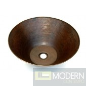 Vased Copper Bath Vessel Sink in Antigua Finish