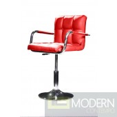Modrest B05 - Modern Eco-Leather Red Swivel Chair