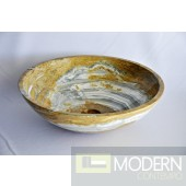 Blue and Cream white onyx vessel sink