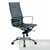 Comfy High Back Black Office Chair