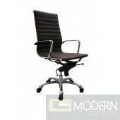 Comfy High Back Brown Office Chair