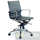 Comfy Low Back Black Office Chair