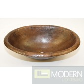 Oval Drop-in copper bath sink in Antigua Finish
