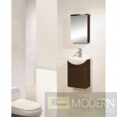 """17"""" Wall-Mounted Modern Bathroom Vanity - w/Counter and Medicine Cabinet"""