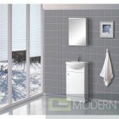 """18"""" Floor Standing Modern Bathroom Vanity - w/Counter and Medicine Cabinet"""