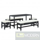 Lacuna 5 Piece Outdoor Patio Dining Set