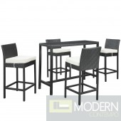Portland 5 Piece Outdoor Patio Pub Set
