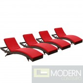 Peer Chaise Outdoor Patio Set of 4