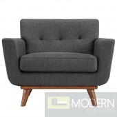 Engage Fabric Armchair Dark Grey