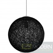 "16"" Spool Pendant Light Black"