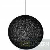 "24"" Spool Pendant Light Black"
