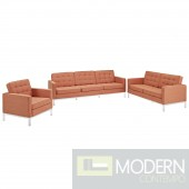 Loft Armchair Loveseat and Sofa Set of 3
