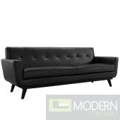 Engage Leather Sofa Black