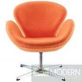 Wing Lounge Chair Orange