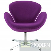 Wing Lounge Chair Purple