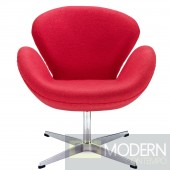 Wing Lounge Chair Red