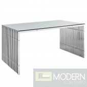 Gainesville Stainless Steel Dining Table Silver