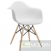 Pyramid Dining Armchair WHITE