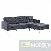 Loft Right-Arm Wool Sectional Sofa