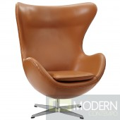 Glove Leather Lounge Chair TAN