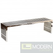 Gainesville Large Stainless Steel Bench In Silver