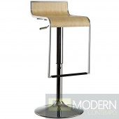 LEM Wood Bar Stool Natural Wood